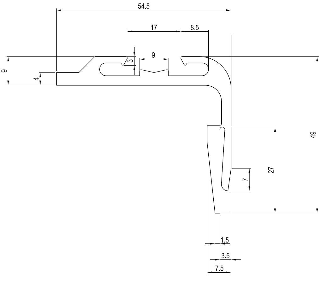 Tür Rahmen Profil FT-001365 - FT-Containerparts