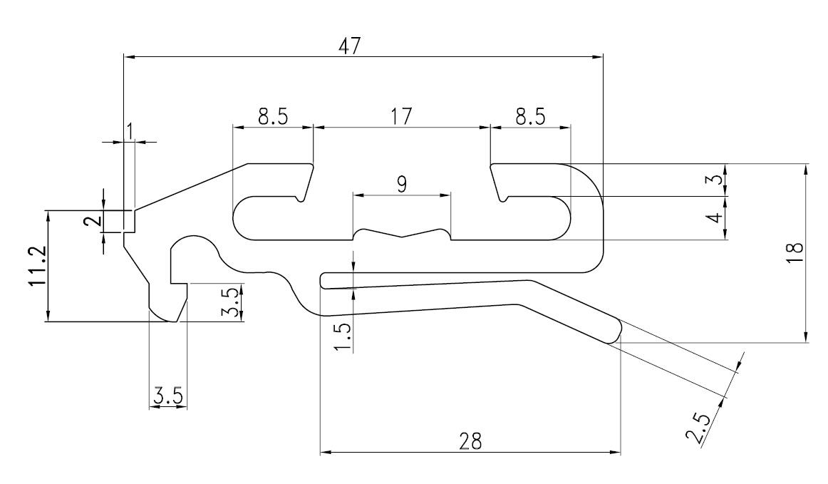 Tür Rahmen Profil FT-003064 - FT-Containerparts